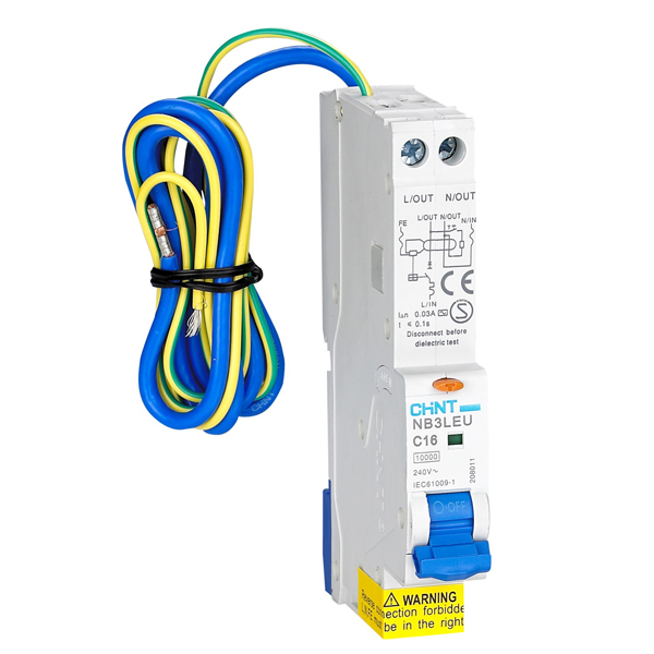 NB3LEU Residual Current Operated Circuit Breaker
